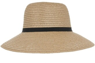 Gregory Ladner Classic Style Sun Hat W Narrow Band Bow And Tails
