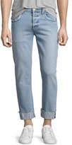 Hudson Blake Cropped & Cuffed Slim-Straight Jeans, Light Blue