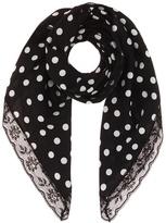 Dolce & Gabbana Polka-dotted silk scarf