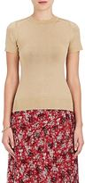 JoosTricot Women's Metallic-Knit Fitted Short-Sleeve Sweater