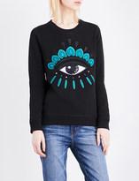 Kenzo Icon Eye-embroidered cotton-jersey sweatshirt