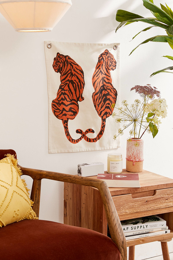 Urban Outfitters Tiger Flag Tapestry