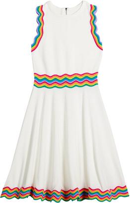 Milly Girl's Rainbow Stripe Knit Sleeveless Dress, Size 7-16