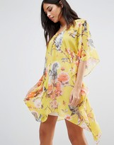 Traffic People Floral Kimono Dress