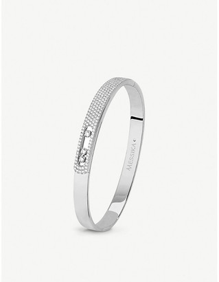Messika Move Noa 18ct white-gold and pave diamond bangle