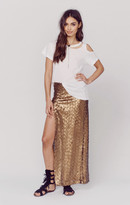Blu Moon slit sequin skirt