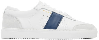 Axel Arigato White and Navy Dunk Sneakers