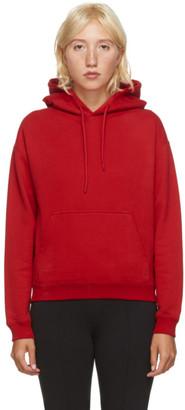 Balenciaga Red Small Fit Logo Tab Hoodie