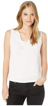 Michael Stars Cambria Crepe Knit Millie Cowl Top