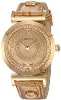 Versace Women's P5Q84SD999 S999 Vanity Analog Display Swiss Quartz Gold Watch