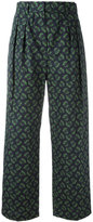 Hache wide-legged cropped trousers - women - Cotton - 42