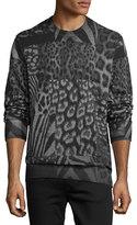 Diesel S-Joe-AR Animal-Print Sweatshirt