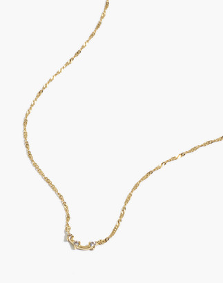 Madewell Delicate Collection Demi-Fine White Topaz Gemline Necklace