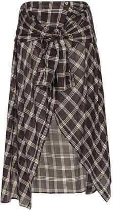 Faith Connexion High-Waisted Asymmetric Hem Midi Skirt