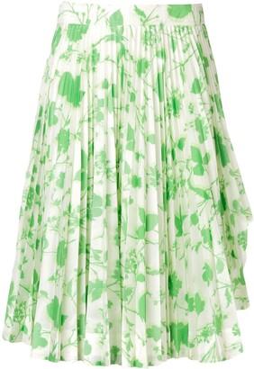 Calvin Klein Floral Print Pleated Skirt