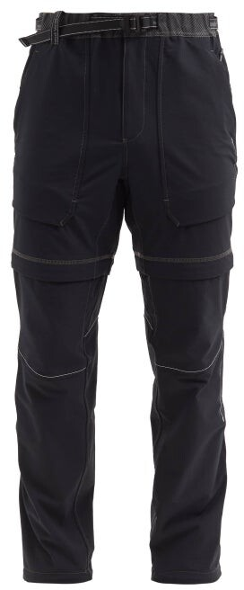 and wander Convertible Technical-shell Trousers - Black