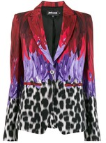 Just Cavalli mixed-print single-breasted blazer