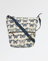 Fat Face Butterfly Woven Cross Body Bag