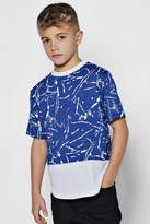 boohoo Boys Paint Splatter T-Shirt
