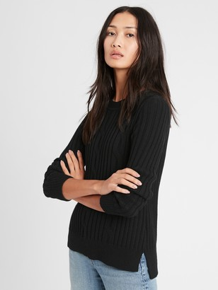 Banana Republic Petite Chunky Cable-Knit Sweater