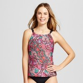 Women's Paisley High Neck Tankini Swimsuit Top Multi - Clean Water