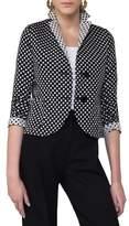 Akris Punto Women's Dot Print Reversible Blazer