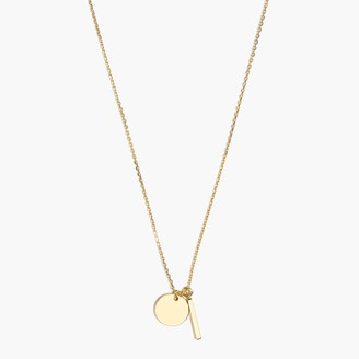 J.Crew Delicate charms pendant necklace