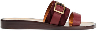 Rag & Bone Arley Buckled Calf Hair-trimmed Suede And Leather Slides