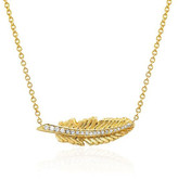 Logan Hollowell - New! Golden Feather Necklace