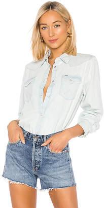 Wrangler Heritage Oversized Denim Shirt.