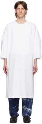Hed Mayner White Cotton Long T-Shirt