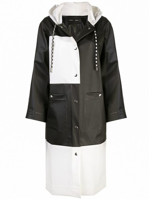 Proenza Schouler White Label PSWL Colorblocked Long Raincoat