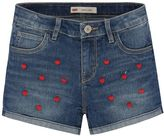 Levi's Girls 7-16 Embroidered Pattern Shortie Shorts