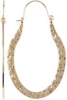 Natasha Accessories Hammered Oval Drop Earrings