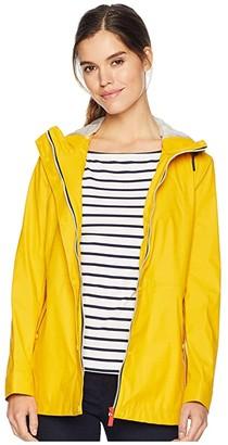 Hunter Lightweight Rubberised Jacket (Yellow) Women's Coat