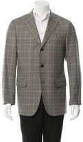 Salvatore Ferragamo Wool Glen Plaid Blazer