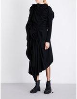 Yohji Yamamoto Draped asymmetric wool dress