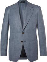 TOM FORD - Blue Shelton Slim-Fit Wool, Silk and Linen-Blend Suit Jacket