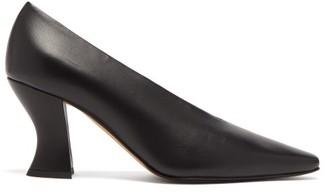 Bottega Veneta Almond Curved-heel Leather Pumps - Womens - Black