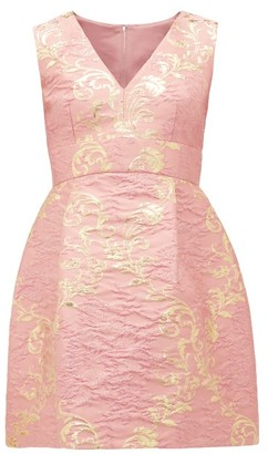 Dolce & Gabbana Floral-brocade Mini Dress - Pink Multi