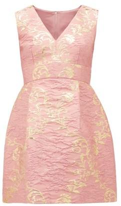 Dolce & Gabbana Floral-brocade Mini Dress - Womens - Pink Multi