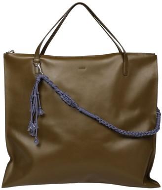 Jil Sander Medium Leather Tote Bag W/ Braided Strap