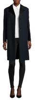 Jil Sander Wool Notch Collar Canvas Coat