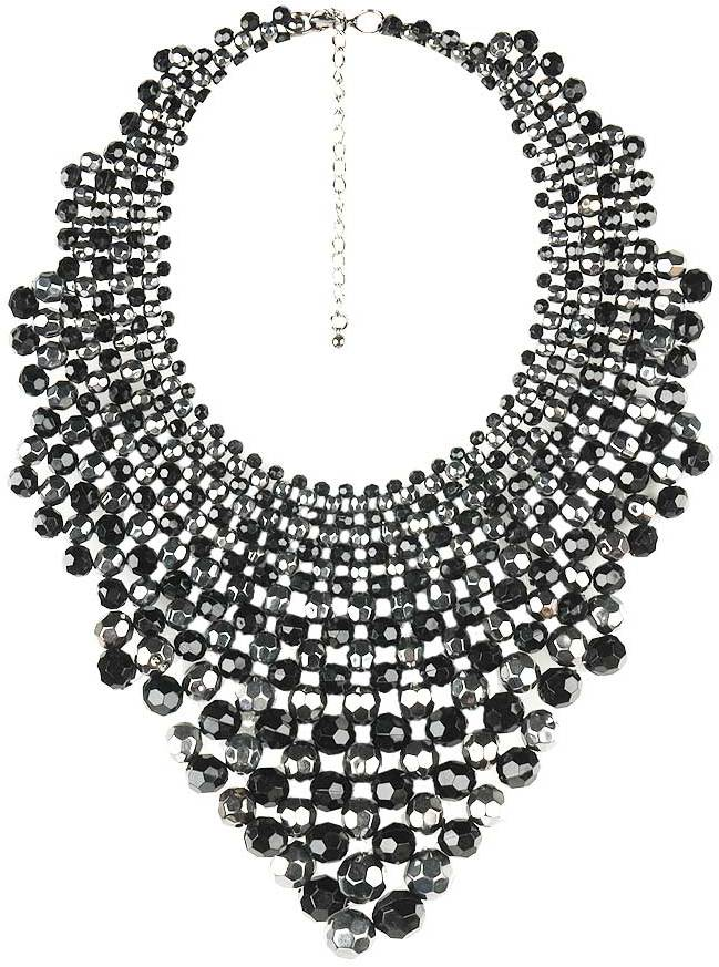 Forever 21 Faceted Bead Bib Necklace