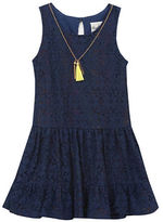 Rare Editions Girls 2-6x Mesh Tiered Dress