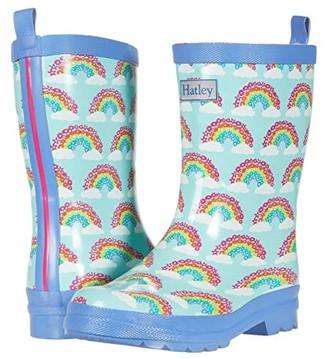 Hatley Magical Rainbows Shiny Rain Boots (Toddler/Little Kid) (Aqua) Girls Shoes