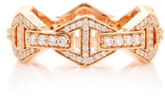 Walters Faith Keynes All Diamond Signature Hexagon Stackable Ring