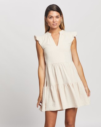 Atmos & Here Atmos&Here - Girl's Neutrals Mini Dresses - Oscar Mini Dress - Size 10 at The Iconic