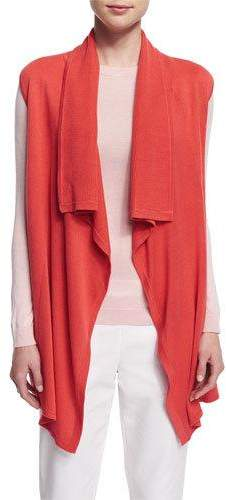 Magaschoni Sleeveless Draped-Front Vest