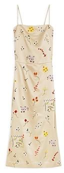Tory Burch Embroidered Sheath Midi Dress